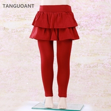TANGUOANT Girls Skirt Pants Autumn Winter Girls Leggings with Skirt Girls Clothes Kids Trousers Children Leggings Pants for Girl(China)