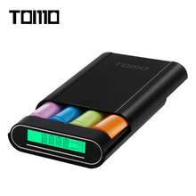 TOMO M4 4 x 18650 Li-ion Battery DIY portable Smart Charger can be used as external mobile power bank Dual Outputs