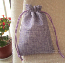 30pcs-10*15cm Linen Storage pouch for herb lavender Sachet bag Gift Packaging bags Drawstring closure