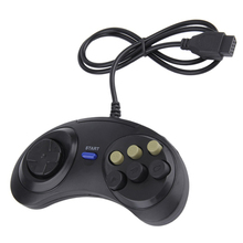Joypad Handle Game Controller Classic Wired 6 Buttons For SEGA MD2 PC MAC Mega Drive Gaming Accessories Universal Remote Control(China)