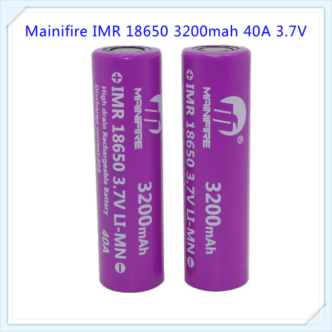 Bulk buy! Mainifire 40A 18650 3200mah Mainifire 18650 battery Li ion rechargeable 40A e(China (Mainland))