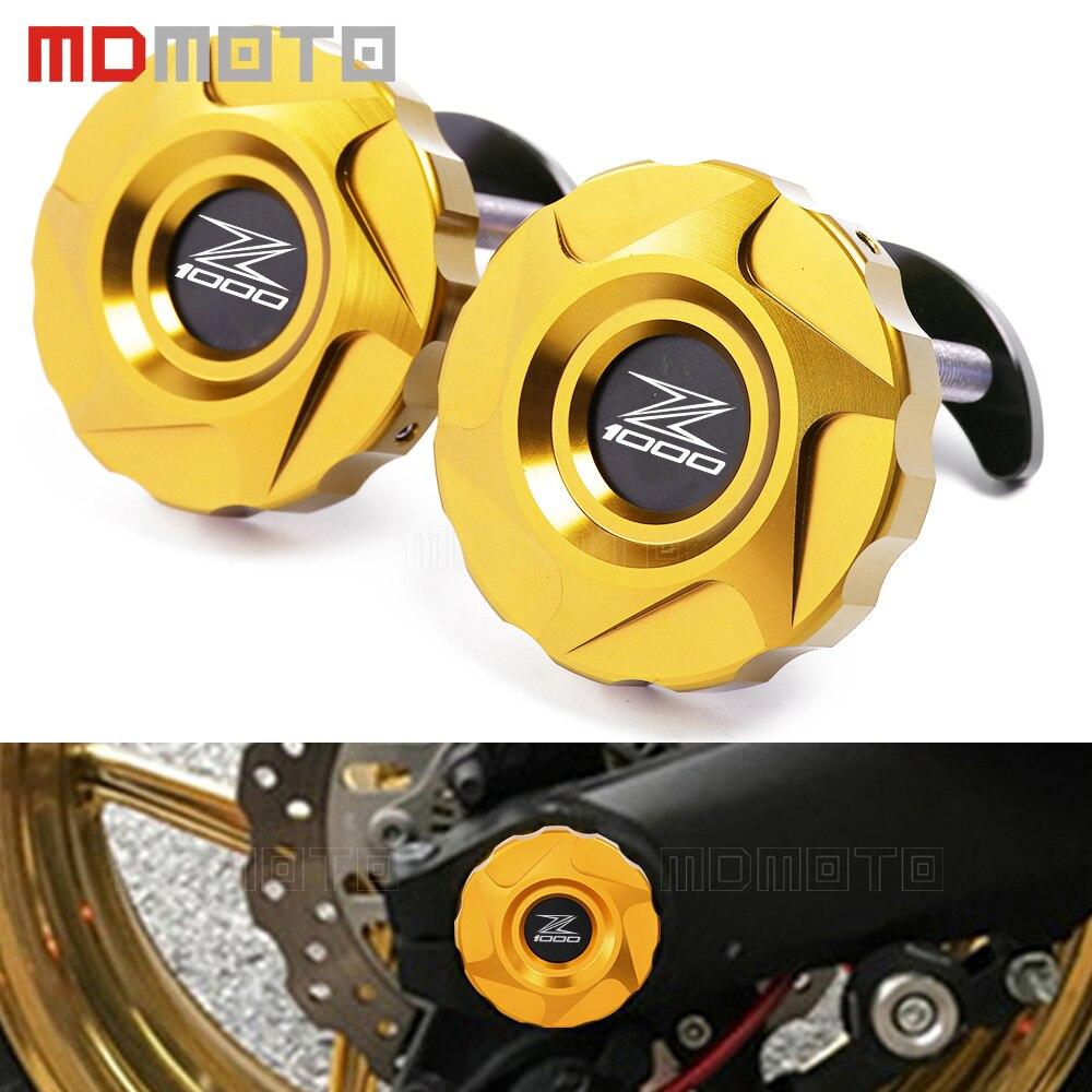 Motorcycle Part CNC Aluminum Frame Hole Cover Rear wheel fork decoration bracket Protector For Kawasaki Z1000 Z1000SX Ninja 1000<br>
