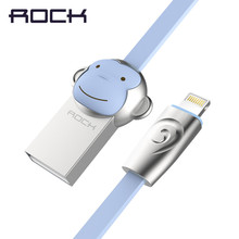 Rock Monkey Mobile Phone Cable For Apple iphone 7 7plus 6 6s 1M 8-pin Wire Sync Charging Data Transfer USB Cable for Lightning(China)