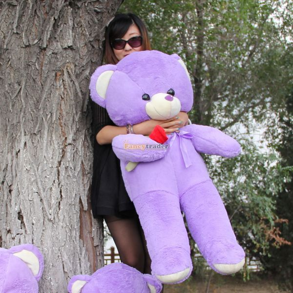 Fancytrader 47 / 120cm Giant Lovely Stuffed Soft Plush Rose Lavender Teddy Bear Toy, Nice Gift For Kids, Free Shipping FT50739<br><br>Aliexpress
