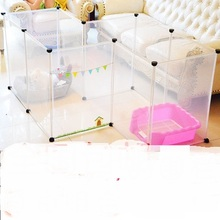 Free combination, super handy fence, transparent pet fence / 8 tablets(China)