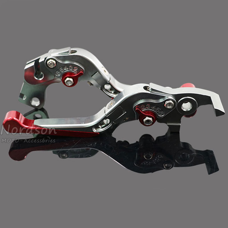 CNC Aluminum For KTM DUKE 125 DUKE 200 DUKE 390 Folding Extendable Motorcycle Brake Clutch Levers<br>