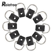 Relefree Brand New 10pcs Steel Canoe Kayak D Ring Outfitting Rigging Bungee Accessory Boating Watersports(China)