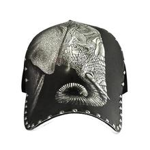2017 New Fashion sketch pattern hat Baseball Elephant Printed hats Men Outdoor Unisex Popular Cap