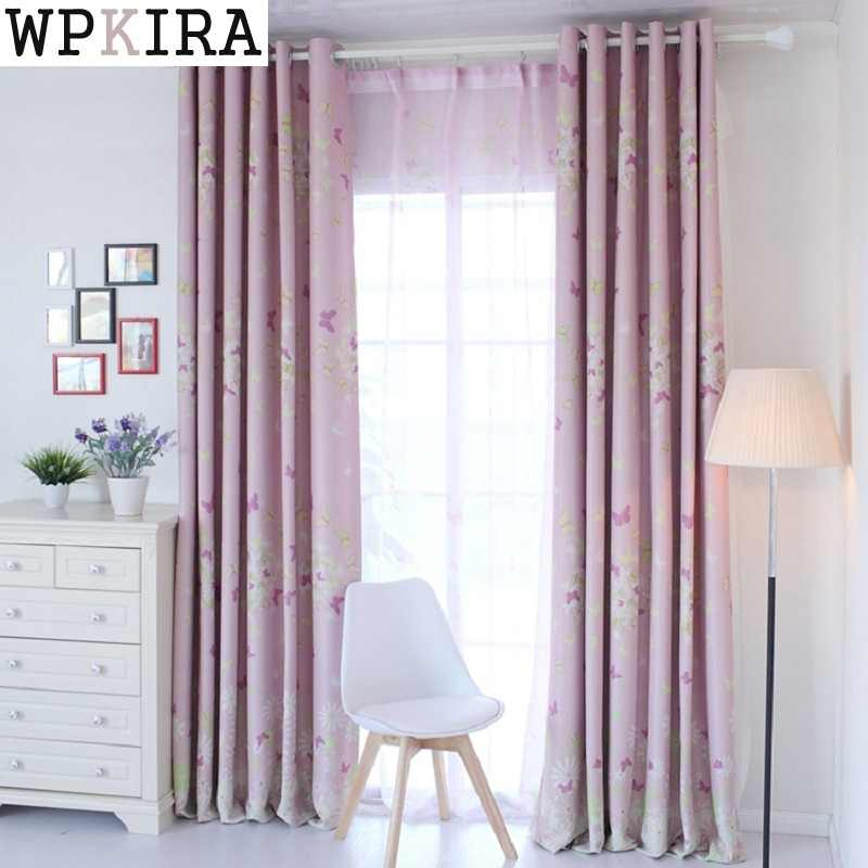 Children Living Room Butterfly Curtains Baby Room Curtains The Bedroom Blackout Curtains for Kids Lovely Drapes S223&20