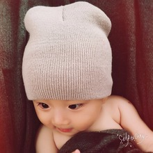 2017 Crochet Fashion Knitting Warm Baby Hats Caps Kids Pure Candy Color Children Beanies Boys Girls Hats Cloth Accessories(China)
