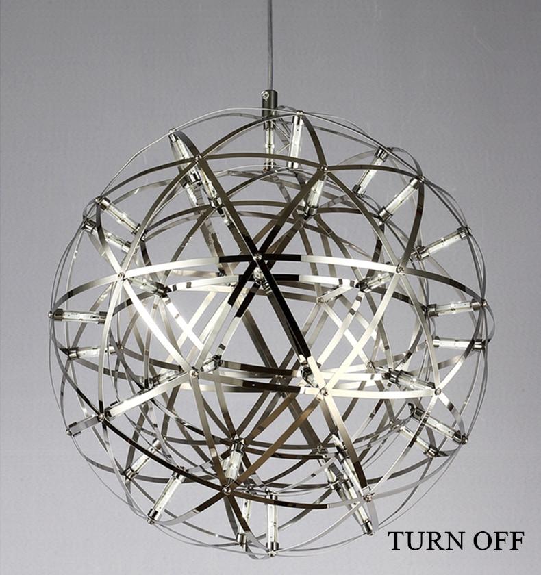 firework stainless steel chandelier led lamp loft 7