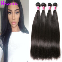 Peruvian Virgin Hair Straight 7a Unprocessed Virgin Hair 4 Bundles Straight Light/Dark Brown Hair Extensions Human Hair Weave