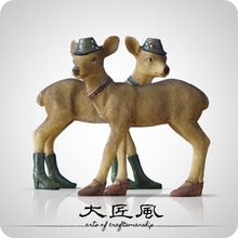 A big wind wind room children's room decoration designer Nordic American Sculpture Ornament Gift Gifts deer Home Furnishing(China)