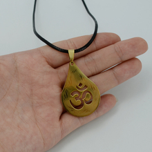 Anniyo Om Pendant Necklaces for Women/Men,Gold Color OHM Hindu Buddhist AUM Hinduism Jewelry India Yoga Gifts #000608