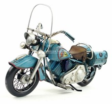 Antique classical motorcycle model retro vintage wrought  metal crafts for home/pub/cafe decoration or birthday gift