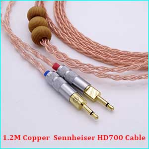 1.8Meter Hand Made Hi-end 5n Pcocc 4+4 Hybrid Silver Plated Headphone Upgrade Cable for Sennheiser HD700
