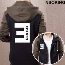 2017 New Spring Autumn Eminem Hoodie Fashion hiphop ROCK Coat Men zipper Jacket(China)