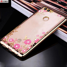 Buy Huawei P Smart Case TPU Silicone Fundas Flower Bling Diamond Clear Soft Case Huawei P Smart Cover PSmart Gold Rose Capas for $1.99 in AliExpress store