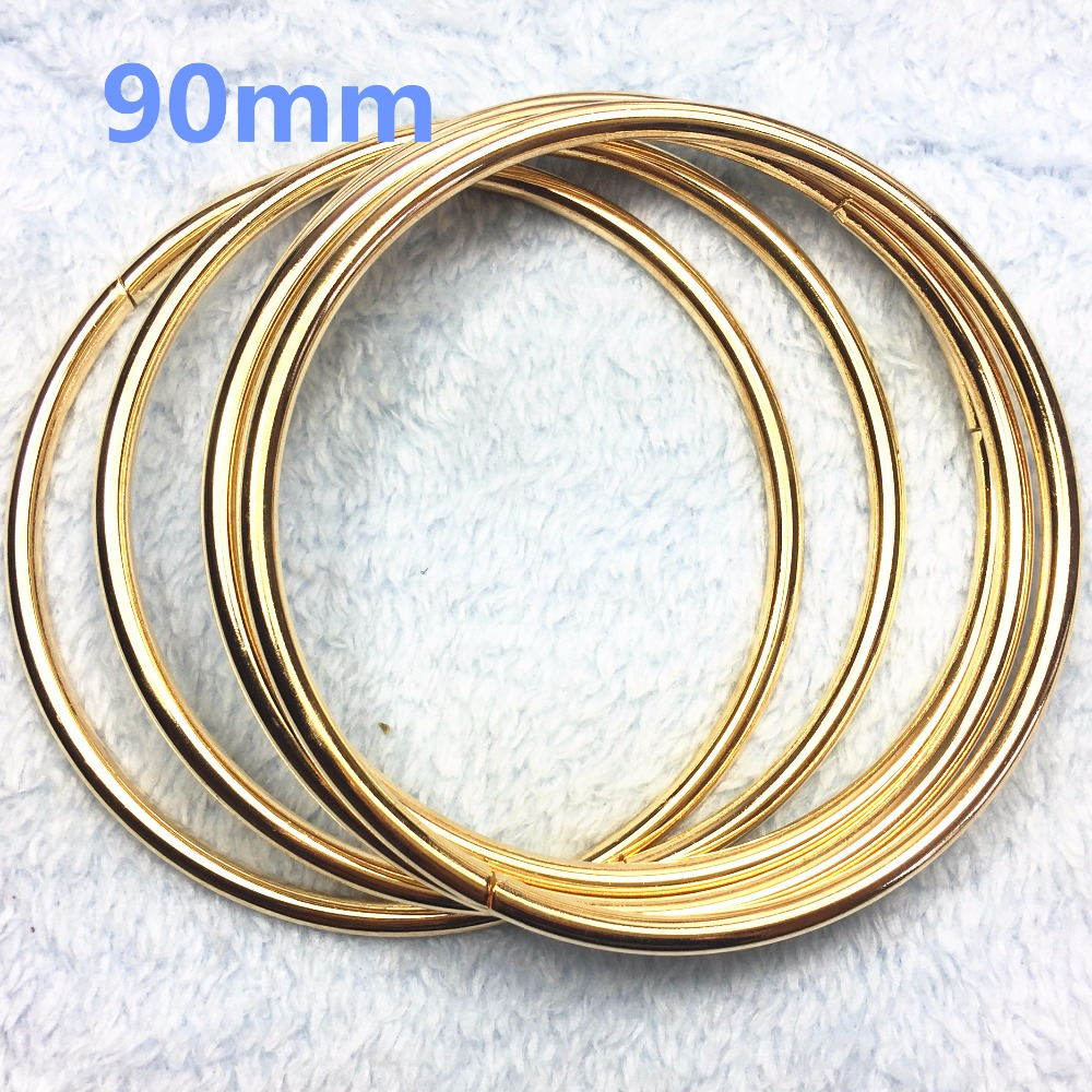 17-  90mm O rose gold Ring Openable Keyring Leather Bag Belt Strap Dog Chain Buckle Snap Clasp Clip Trigger Accessories DIY
