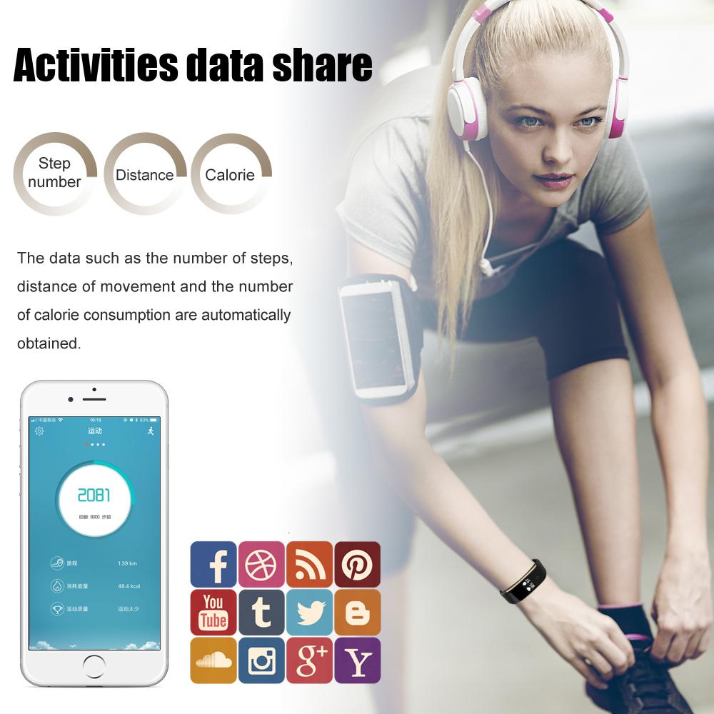 Waterproof Android Pedometer + Blood Pressure & Heart Rate Monitor Wrist Watch 12