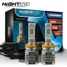 Nighteye H11 Led Automobiles Bulbs 12000lm Auto Led Light 12v Car Driving Headlights Replace H11 Xenon Halogen Lamp Fog Light