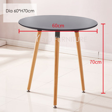Minimalist Modern Design Small Round MDF top with Solid Wood Leg Dining Table Small Modern Furniture Table Side Table Cafe Table(China)