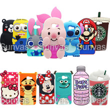 3D Cute Cartoon Animal Minnie Stitch Teddy Bear Kitty Soft Silicone Phone Back Case Cover Skin For Samsung Galaxy A710 A7 2016(China)