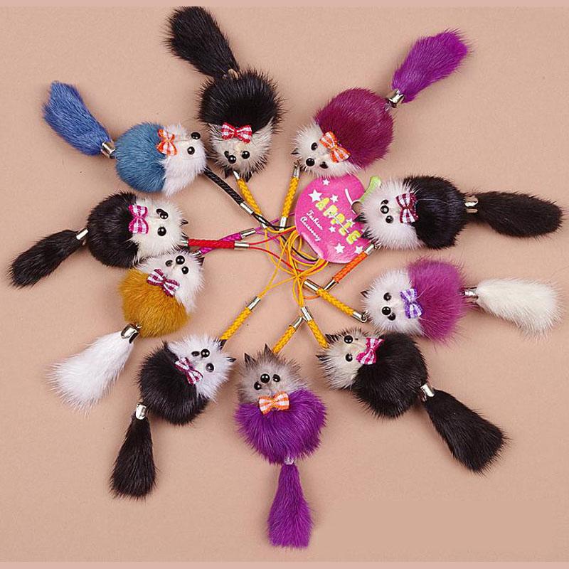 mink fur keychains
