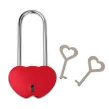 New Hot Romantic One Padlock with Two Keys Lock Heart Love locks Couple Locks Wedding Anniversary Valentines Day Gift Favors