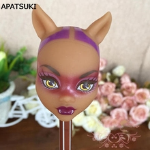 Soft Plastic DIY Doll Heads For Monster High Doll BJD Doll's Practicing Demon Monster Head Without Hair(China)