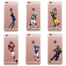 American Football Cartoon Odell Beckham Jr Cam Newton Tom Terrific soft silicone phone cases cover for iphone 5 5s se 6 6s Plus(China)