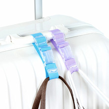 Trolley Suitcase Bag Hanger Luggage Strap Button Buckle Adjustable Security Belt Bag Parts Aircraft Travel Accessories Supplies