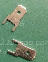 100pcs/ lot  Free shipping 4.8mm short legs 0.8  thick PC board brass solder  terminal connector inserts
