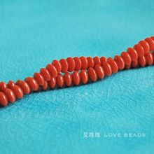 3x5mm sardines red natural coral loose beads discdiy materials bracelet necklace earrings making jewelry craft findings handmade