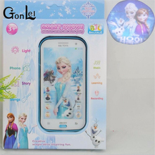 GonLeI Snow Queen Toy Phone Talking Princess Anna Elsa Phone Mobile Learning & Education Baby Mobilephone Electronic Kids Toys