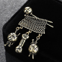 Luxury Fashion Men Brooches Jewelry Antique copper Vintage Hijab Pins And Broach Perfect women's Scarf Pins bags accessory