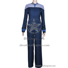 Star Trek The Next Generation Cosplay Deanna Troi Costume Uniform Outfits Jumpsuit Suit Halloween Fashion Party Fast Shipping(China)