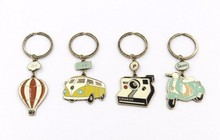 X173 Free shipping Cute Vintage Car Hot Air Balloon Bus Motorcycle Camera Cartoon Alloy Key Chains,Fashion Jewelry Wholesale TLW
