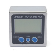 Electronic Protractor 0-360 Degree Digital Angle Level Meter Cube Protractor Inclinometer Gauge Magnetic Base