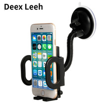 Flexible Tube Windshield Car Phone Holder Mount Case for iphone 6 6s plus Samsung Stand Display Support Free Hand GPS Car Holder