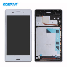 "Buy 5.2"" White Sony Xperia Z3 D6603 D6643 D6653 LCD Display Touch Screen Digitizer Assembly + Bezel Frame,free for $22.99 in AliExpress store"