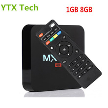 Full HD Media Player 2.4G Wifi H.265 4K Support 1GB DDR3 8GB eMMC Quad Core Smart Android 5.1 Rockchip RK3229 TV Box MX Pro