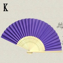 Tranditional Chinese Folding Bamboo Fan Hand Paper Fans Wedding Party Favors