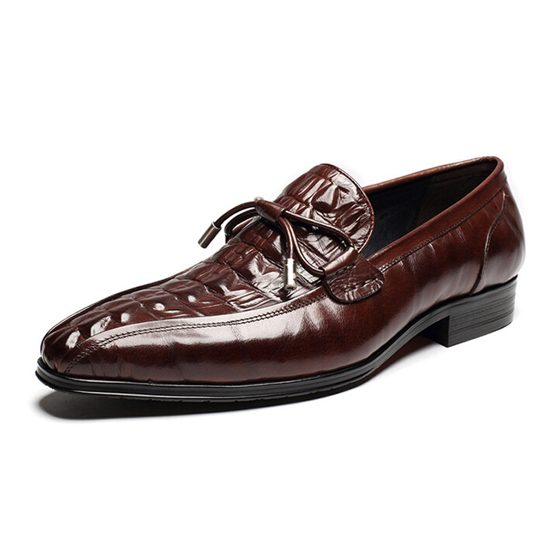 men formal business shoes male embossed genuine leather red wine dressing shoes for party birthday luxury brand gift for husband<br><br>Aliexpress