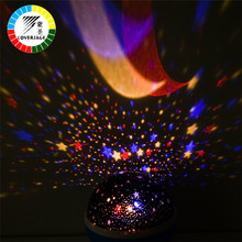 Coversage Led Rotating Night Light Lamp 2Pc Starry Star Master Moon Sky Night Lighting Projector Kids Children Baby Sleeping