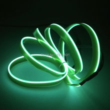 Free Shipping 2M 2.3mm Green Neon Light EL wire Blinking LED Strip with 12V Driver for Party,Automotive,Advertisement Decoration(China)