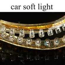 one pair super bright 48cm 48LED 12V LED Car Flexible Durable Light Lamp White Strip 12W best price sale