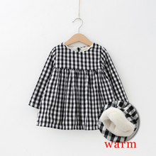 Winter Baby Dress Thicken Plaid Baby Girls Dress Plus Velvet Infant Bebes Christmas Princess Dress Kids Clothes Dress Girls(China)