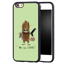 Guardians of Galaxys rocket groot Marvel case cover for Samsung Galaxy s6 S7 edge S8 plus s4 s5 note 2 3 4 5(China)