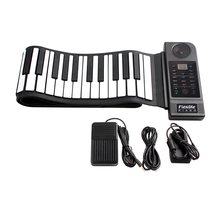 Portable Flexible Folding Keyboard Piano 88 Keys 128 Tones Digital Electronic Organ Roll Up MIDI Piano Built-in Speaker for Kids(China)